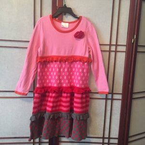 Girls hanna Andersson 100% Cotton Knit Dress.